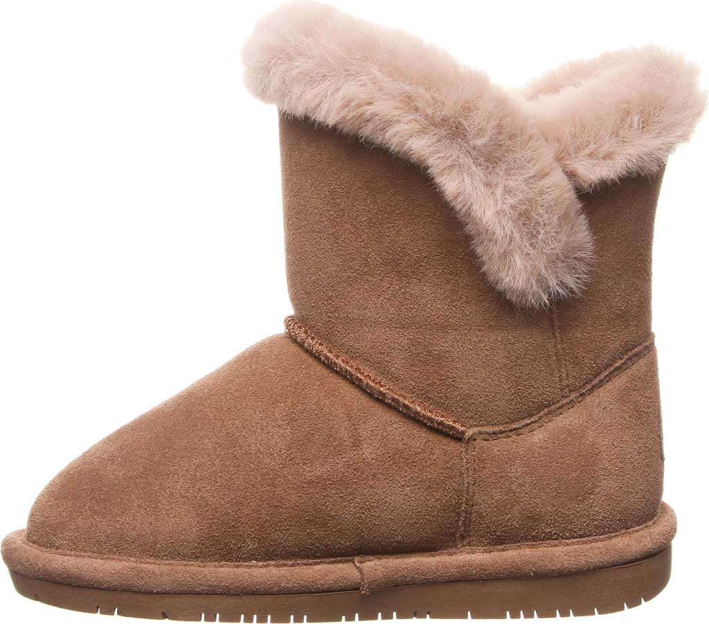 Girls' Bearpaw Betsey Pull On Boot Youth, Hickory II Suede, large, image 3