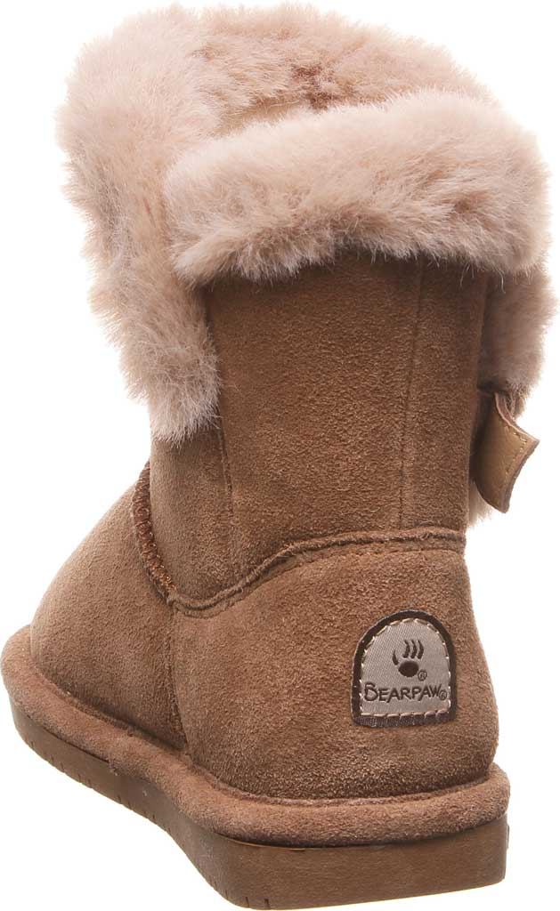 Girls' Bearpaw Betsey Pull On Boot Youth, Hickory II Suede, large, image 4