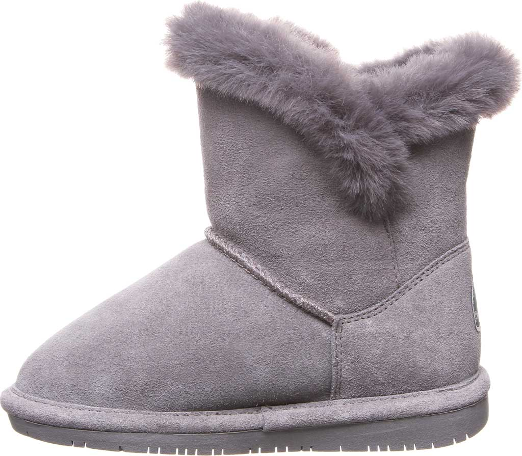 Girls' Bearpaw Betsey Pull On Boot Youth, Gray Fog Suede, large, image 3