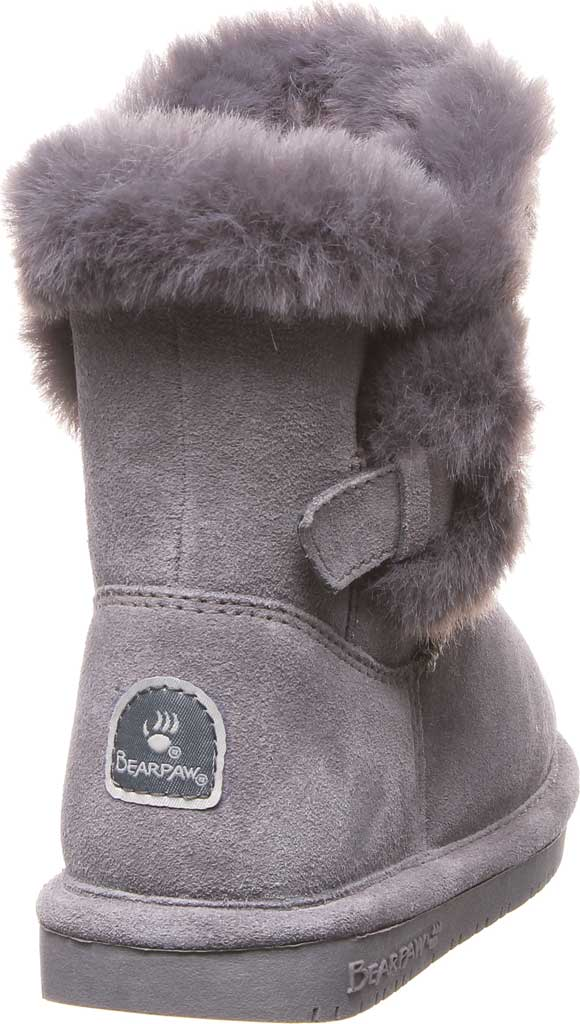Girls' Bearpaw Betsey Pull On Boot Youth, Gray Fog Suede, large, image 4