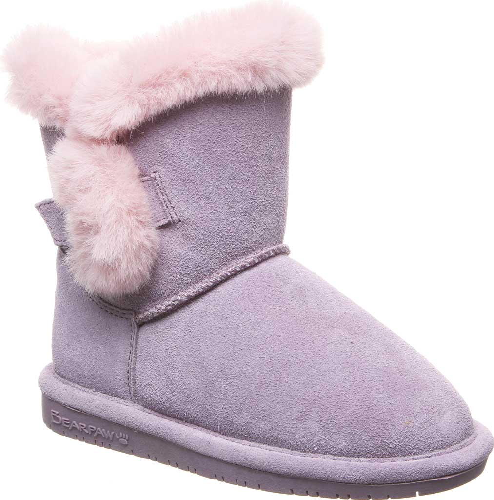 Girls' Bearpaw Betsey Pull On Boot Youth, Wisteria Suede, large, image 1