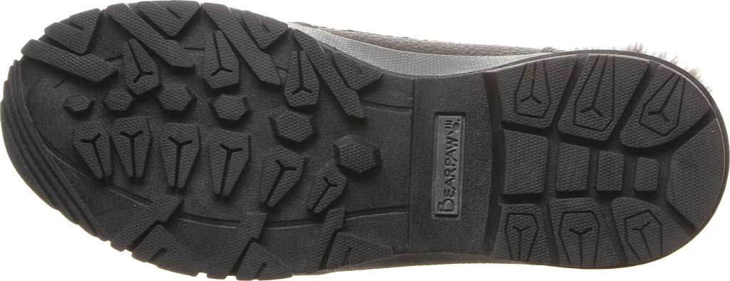 Women's Bearpaw Marina Ankle Bootie, Black/Grey Quilted Nylon/Action Leather, large, image 4