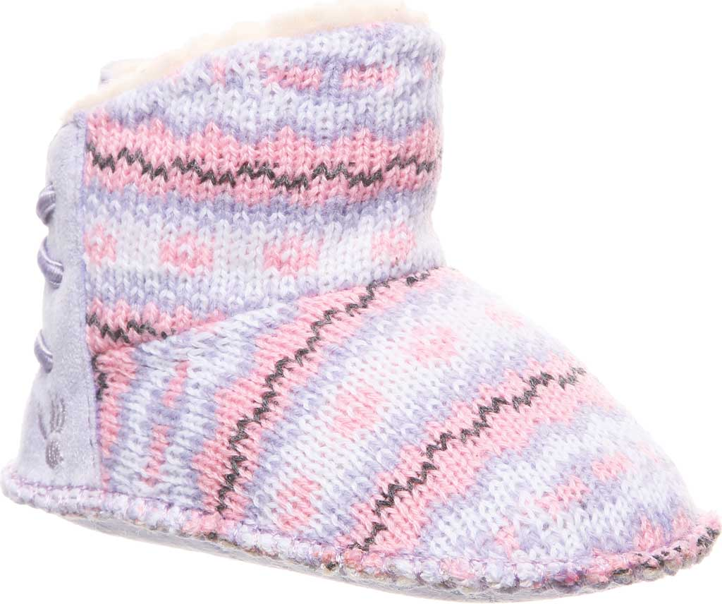 Infant Bearpaw Kaylee Bootie, Wisteria Knit, large, image 1