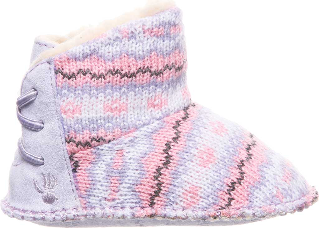 Infant Bearpaw Kaylee Bootie, Wisteria Knit, large, image 2