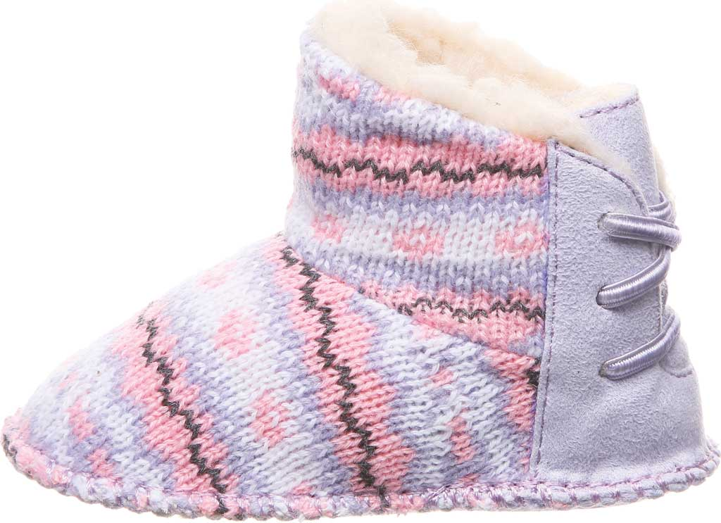 Infant Bearpaw Kaylee Bootie, Wisteria Knit, large, image 3