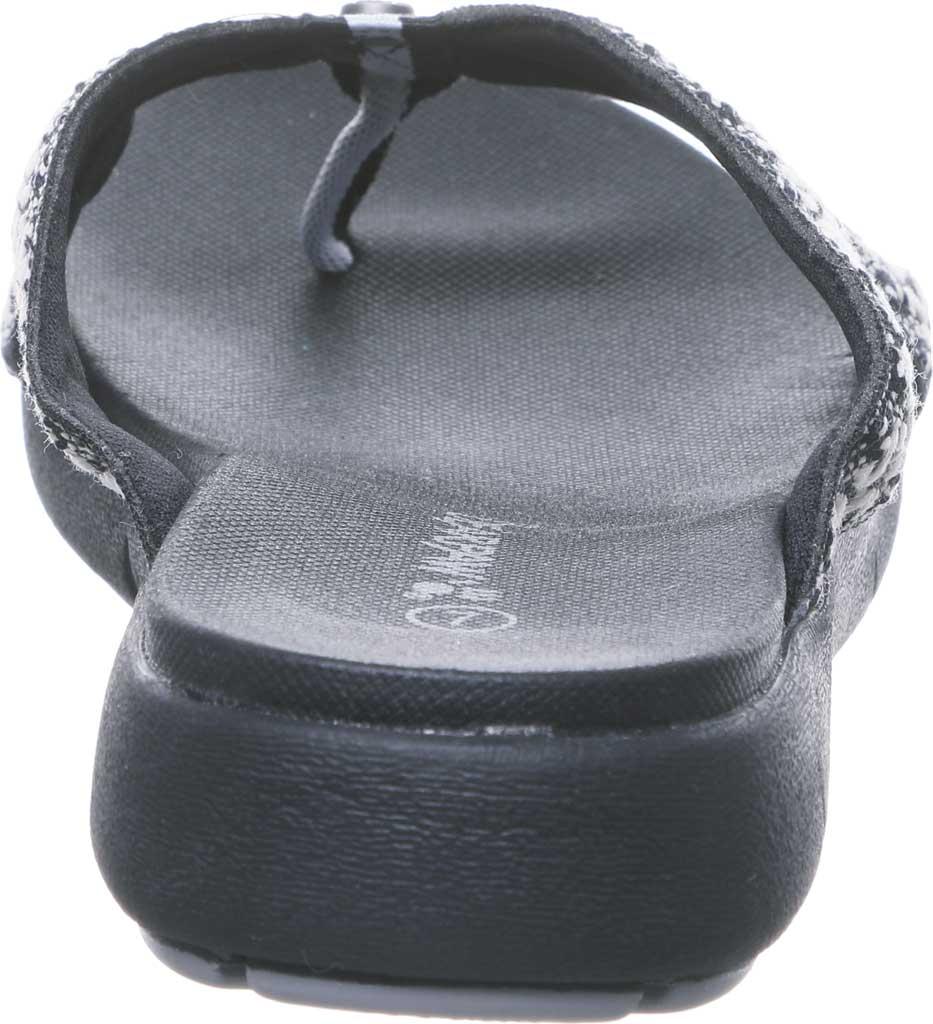 Women's Bearpaw Juniper Thong Sandal, Black II Jersey, large, image 4