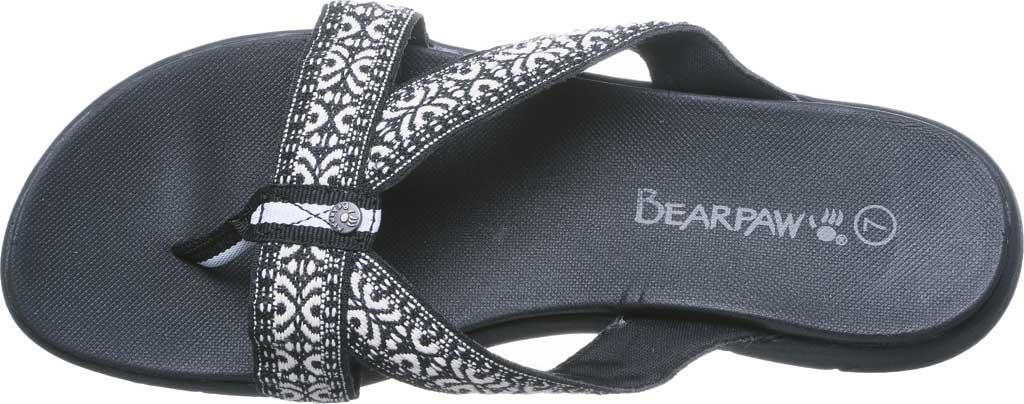 Women's Bearpaw Juniper Thong Sandal, Black II Jersey, large, image 5