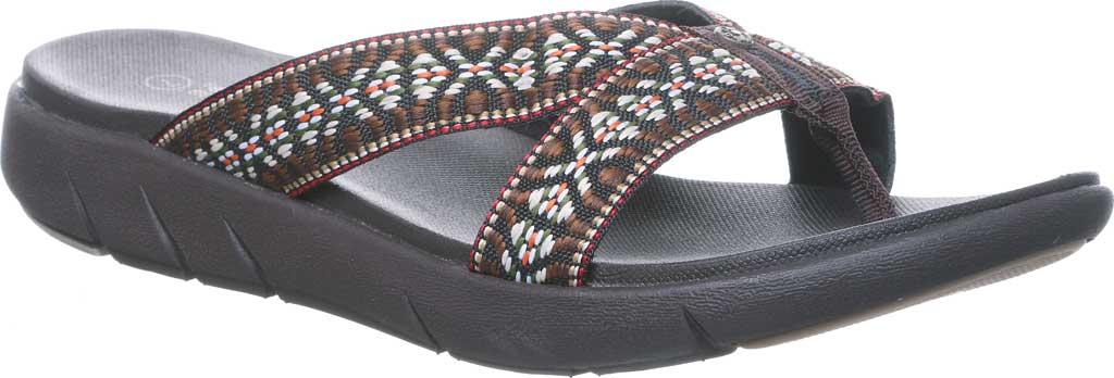 Women's Bearpaw Juniper Thong Sandal, Chocolate II Jersey, large, image 1