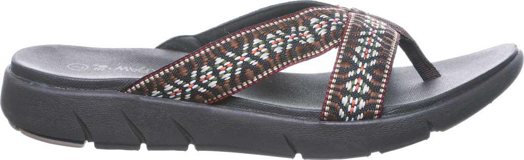 Women's Bearpaw Juniper Thong Sandal, Chocolate II Jersey, large, image 2
