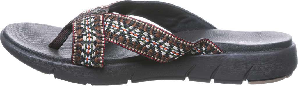Women's Bearpaw Juniper Thong Sandal, Chocolate II Jersey, large, image 3