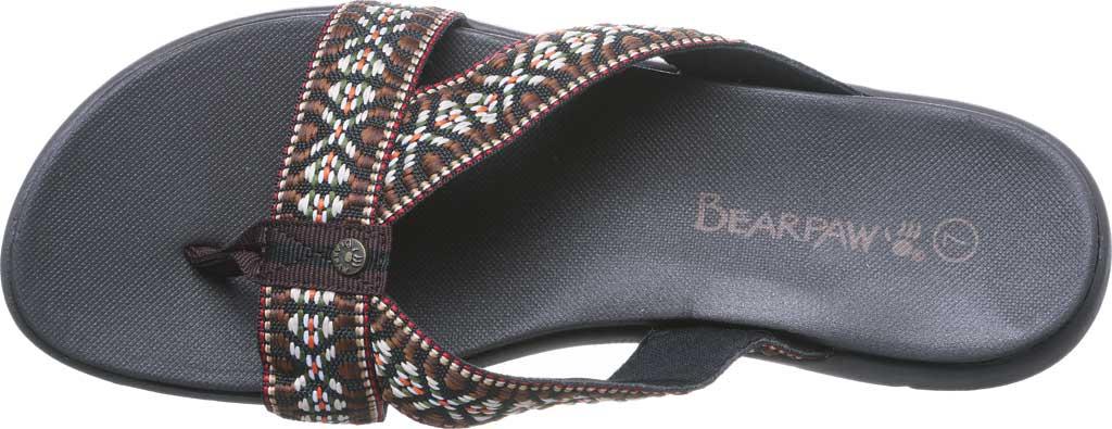 Women's Bearpaw Juniper Thong Sandal, Chocolate II Jersey, large, image 5