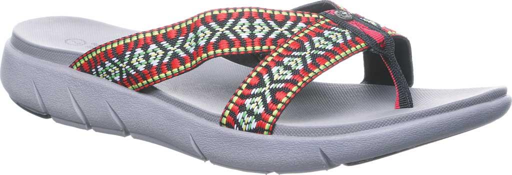 Women's Bearpaw Juniper Thong Sandal, Gray II Jersey, large, image 1