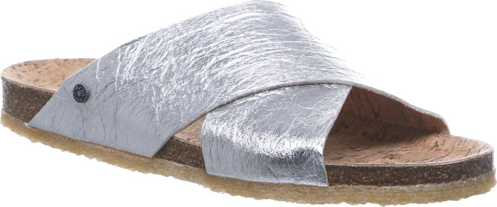 Women's Bearpaw Pina Slide, Silver Pinatex, large, image 1