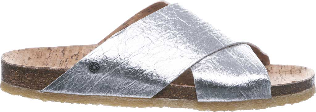 Women's Bearpaw Pina Slide, Silver Pinatex, large, image 2