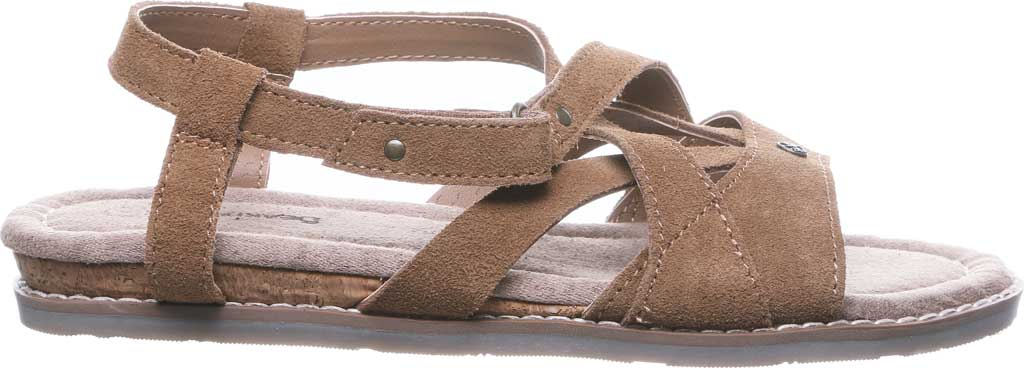 Women's Bearpaw Aruba Strappy Sandal, Hickory II Cow Suede, large, image 2