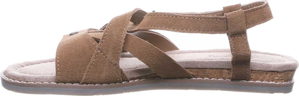Women's Bearpaw Aruba Strappy Sandal, Hickory II Cow Suede, large, image 3