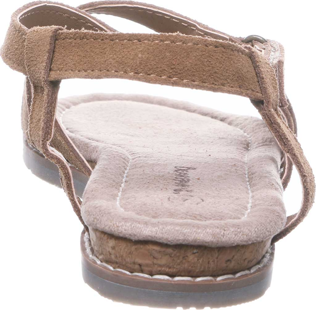 Women's Bearpaw Aruba Strappy Sandal, Hickory II Cow Suede, large, image 4