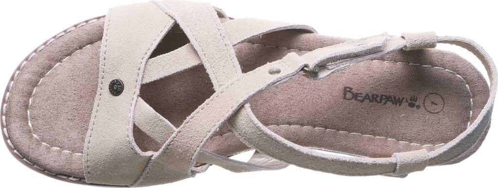Women's Bearpaw Aruba Strappy Sandal, Oat Cow Suede, large, image 4