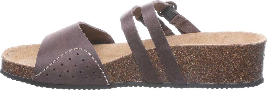 Women's Bearpaw Amoria Wedge Slide, Dark Brown Leather, large, image 3