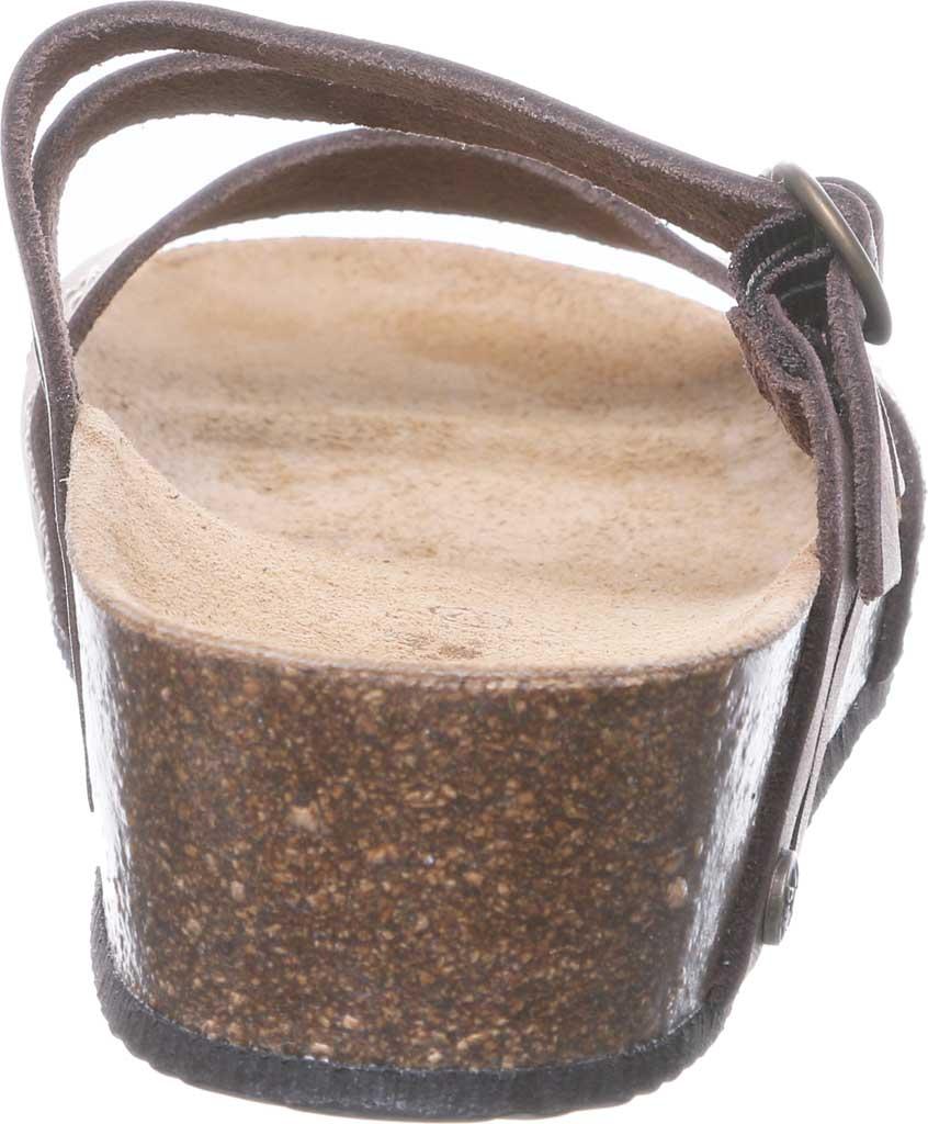 Women's Bearpaw Amoria Wedge Slide, Dark Brown Leather, large, image 4
