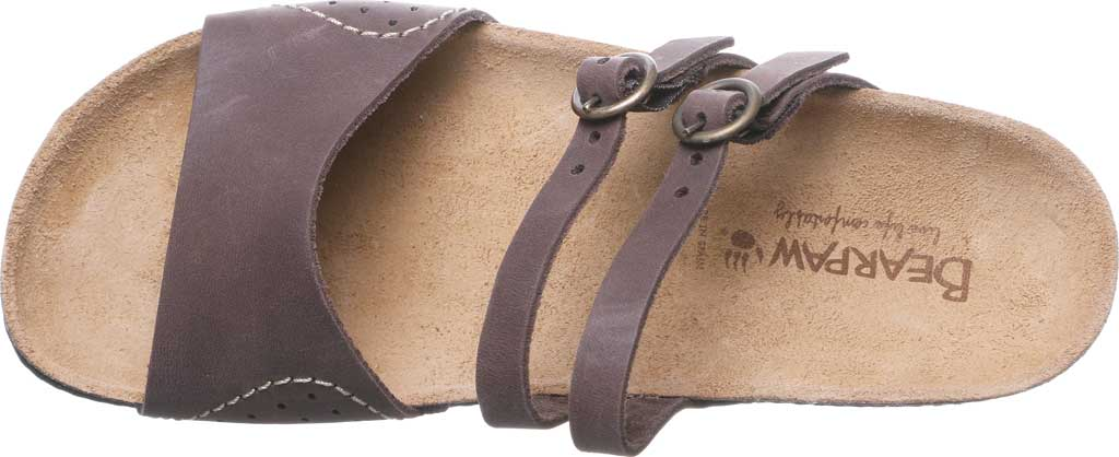 Women's Bearpaw Amoria Wedge Slide, Dark Brown Leather, large, image 5
