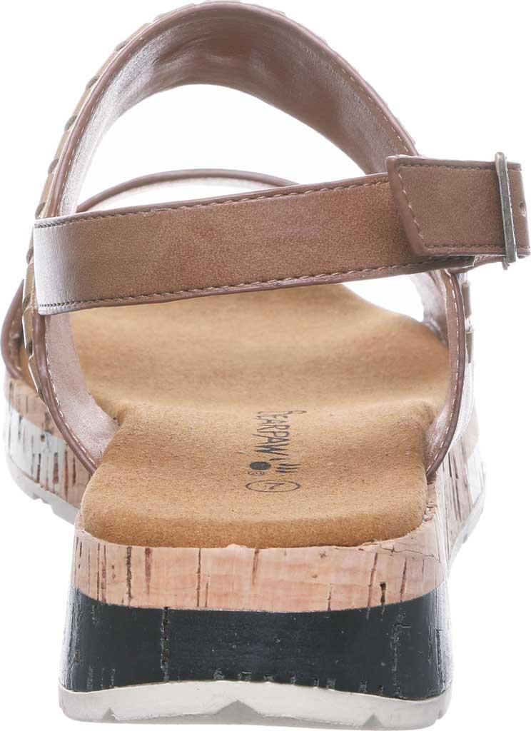 Women's Bearpaw Stormi Slingback Sandal, Tan Faux Leather, large, image 4