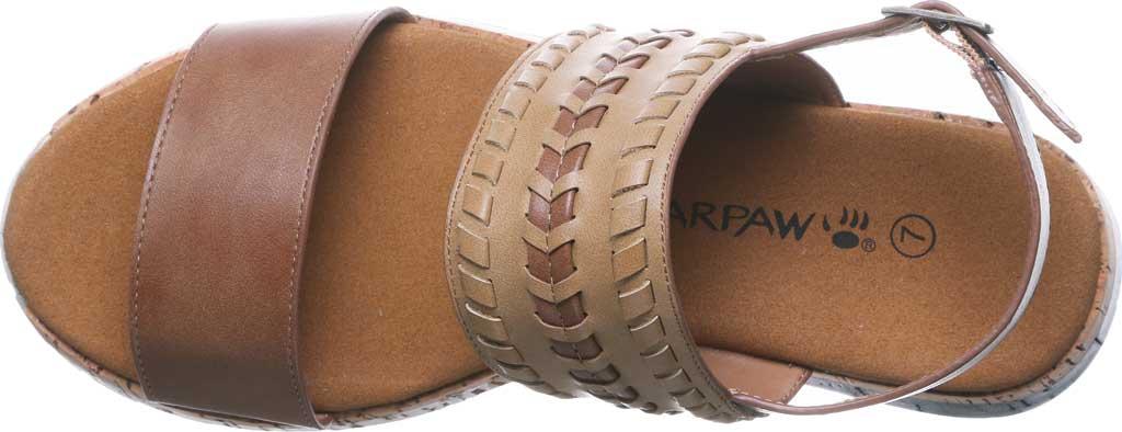 Women's Bearpaw Stormi Slingback Sandal, Tan Faux Leather, large, image 5
