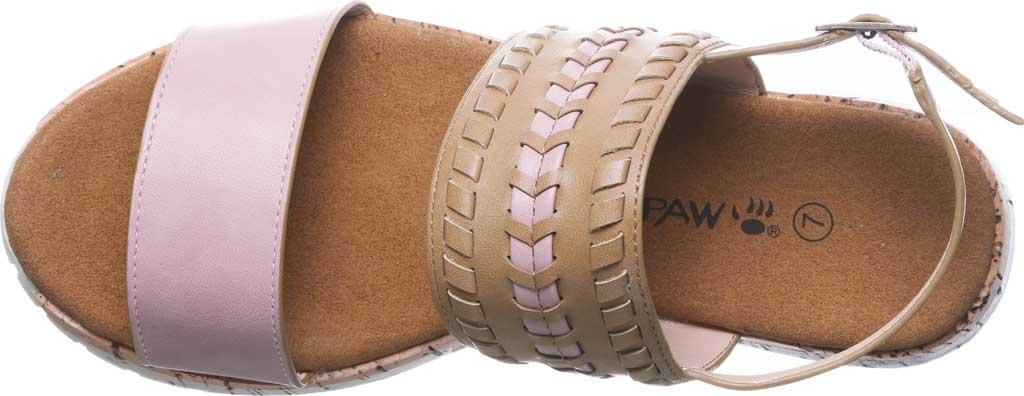 Women's Bearpaw Stormi Slingback Sandal, Pale Pink Faux Leather, large, image 5