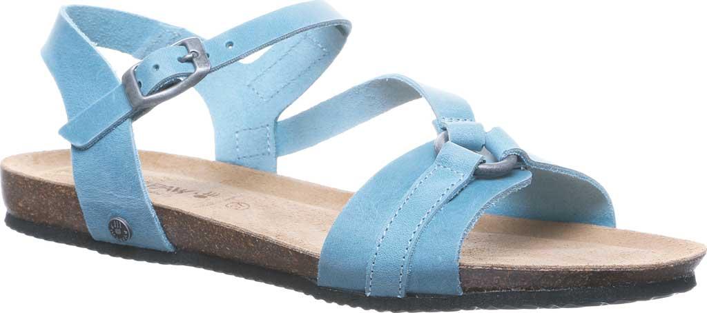Women's Bearpaw Sandy Strappy Sandal, Blue Leather, large, image 1