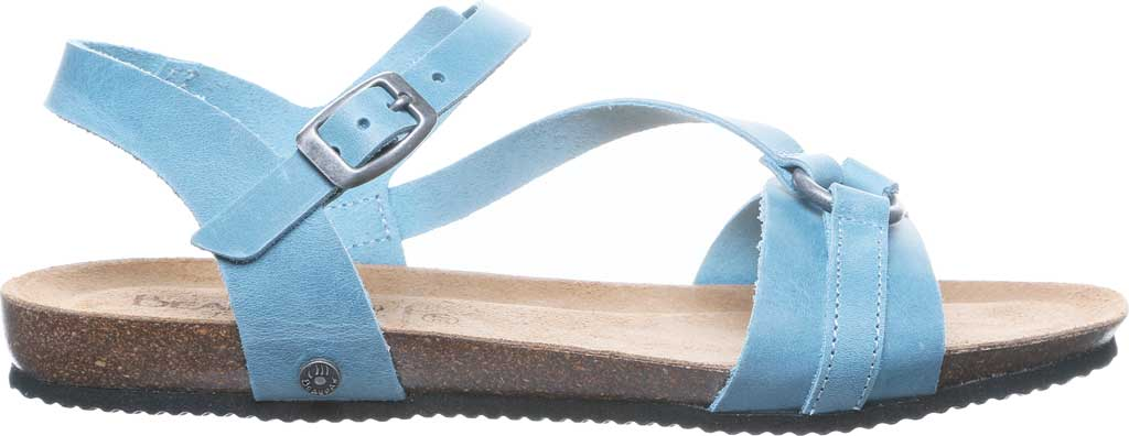 Women's Bearpaw Sandy Strappy Sandal, Blue Leather, large, image 2