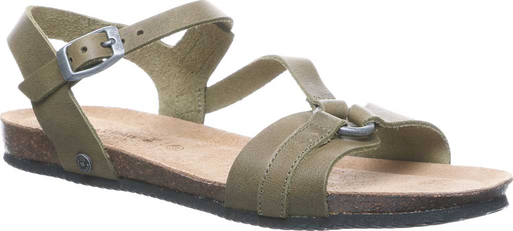 Women's Bearpaw Sandy Strappy Sandal, Loden Leather, large, image 1