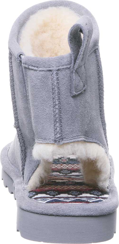 Women's Bearpaw Molly Open Toe Bootie, Gray Fog Cow Suede, large, image 4