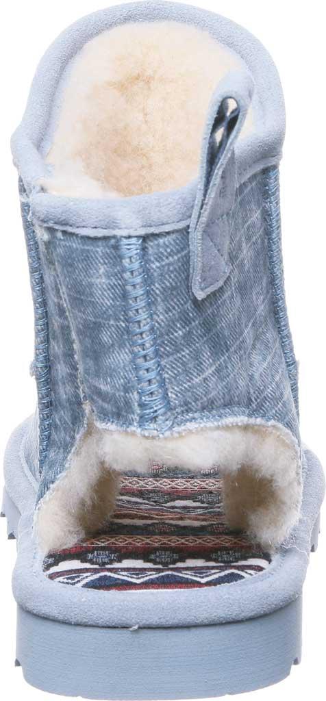 Women's Bearpaw Molly Open Toe Bootie, Blue Fog Cow Suede, large, image 4