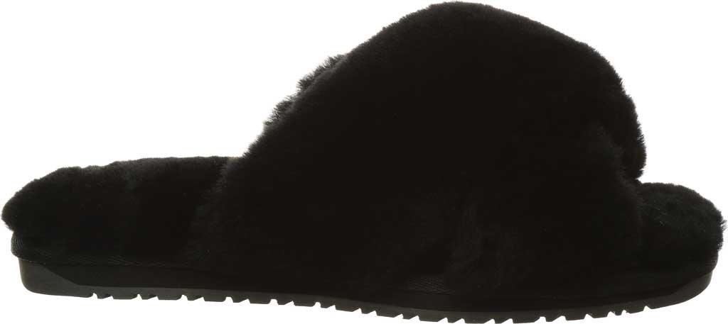 Women's Bearpaw Bliss Furry Slipper, Black II Suede, large, image 2