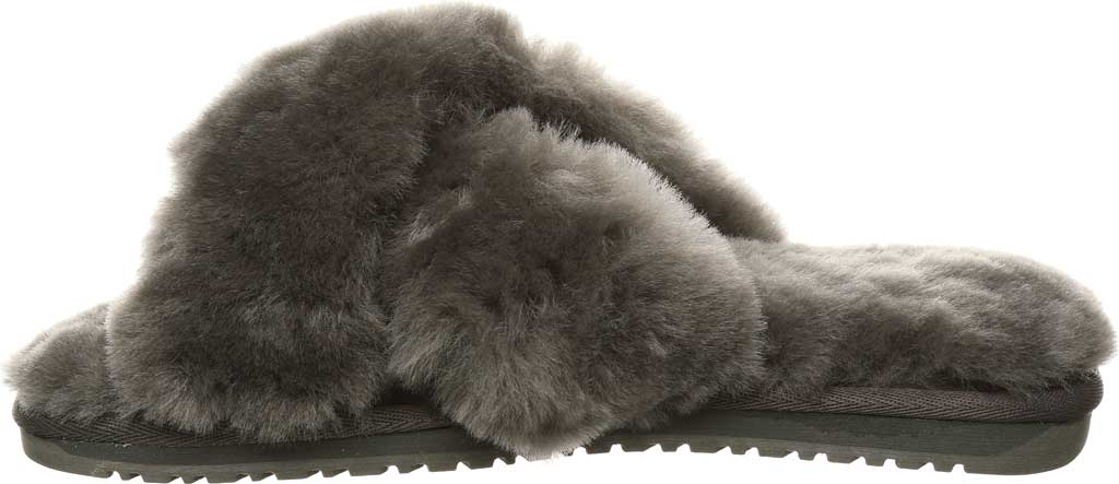 Women's Bearpaw Bliss Furry Slipper, Charcoal Suede, large, image 3
