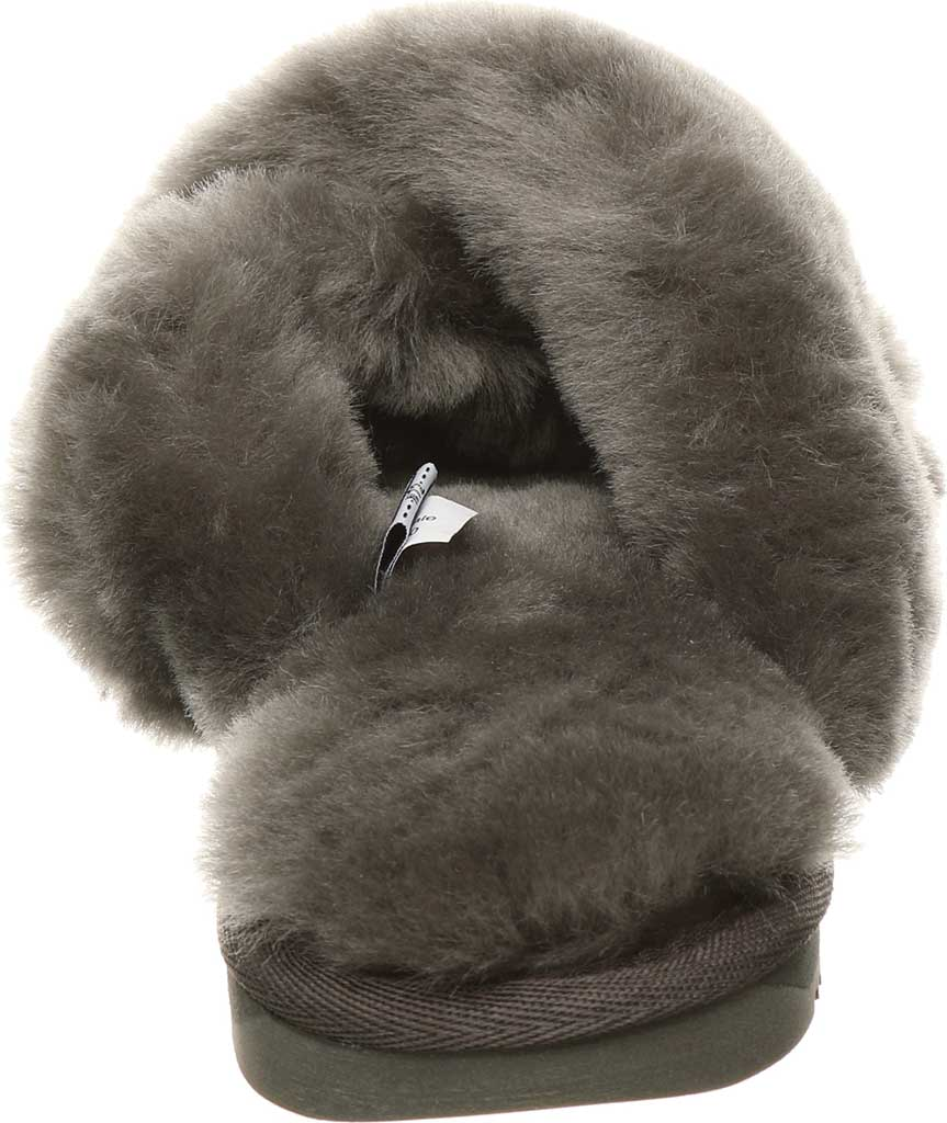 Women's Bearpaw Bliss Furry Slipper, Charcoal Suede, large, image 4