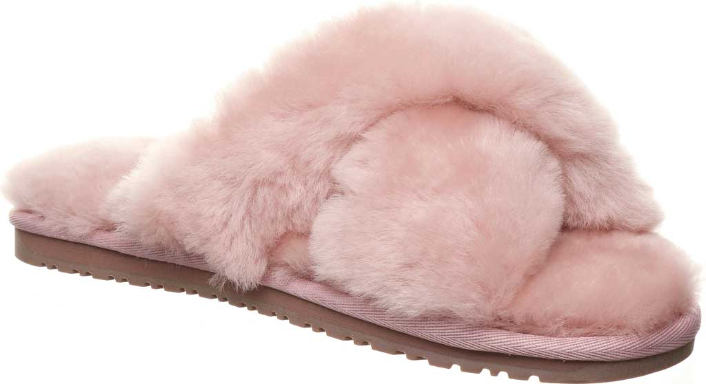 Women's Bearpaw Bliss Furry Slipper, Rose Suede, large, image 1