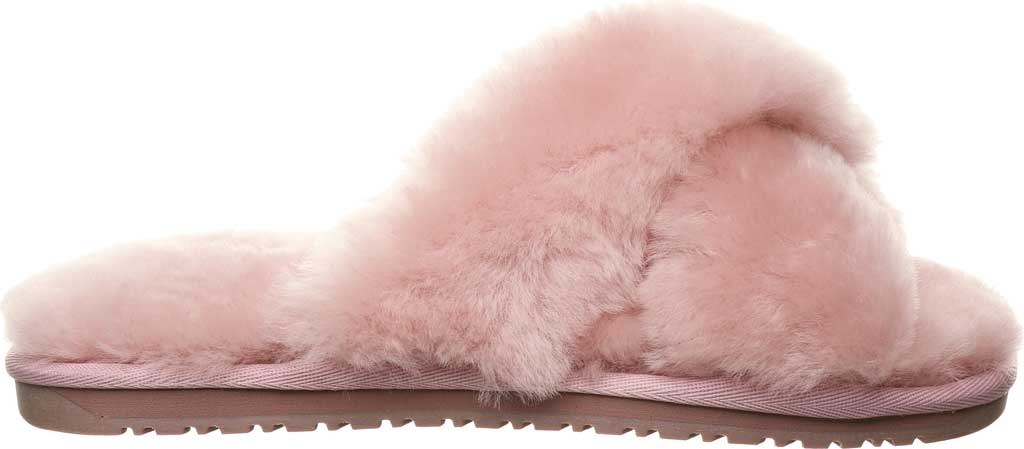Women's Bearpaw Bliss Furry Slipper, Rose Suede, large, image 2