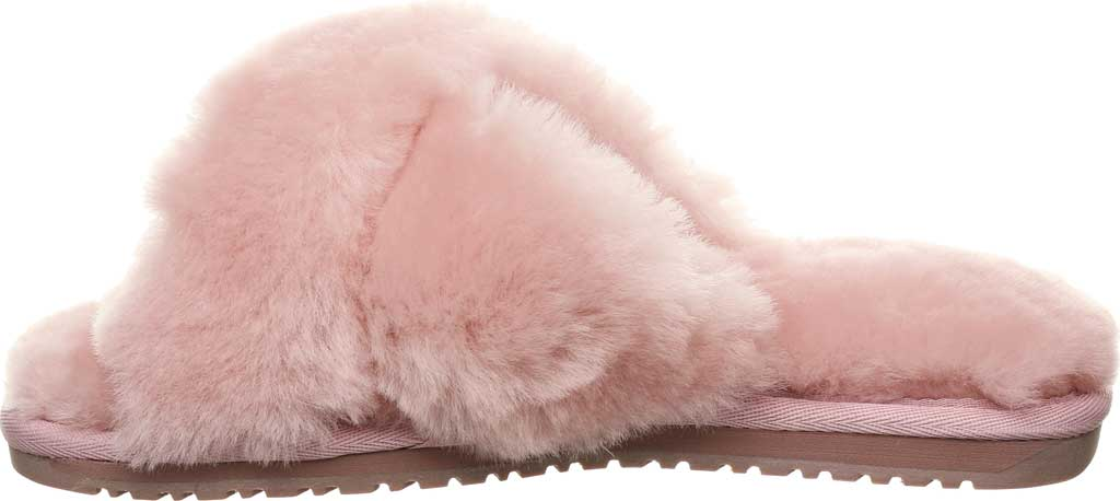 Women's Bearpaw Bliss Furry Slipper, Rose Suede, large, image 3
