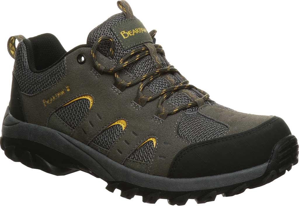 Men's Bearpaw Blaze Sneaker, Charcoal Suede/Mesh, large, image 1