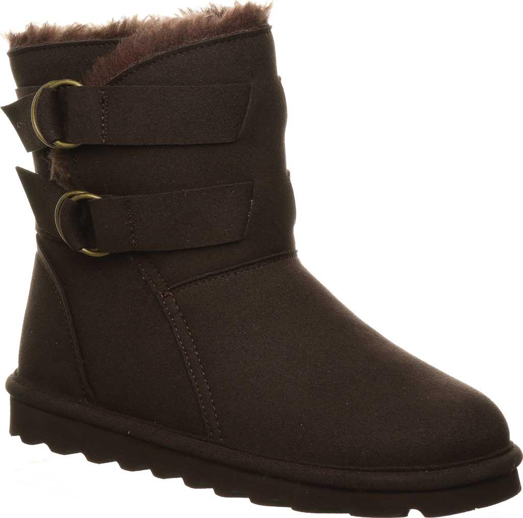 Women's Bearpaw Aloe Vegan Ankle Boot, Chocolate Microfiber, large, image 1