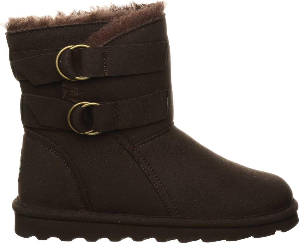 Women's Bearpaw Aloe Vegan Ankle Boot, Chocolate Microfiber, large, image 2