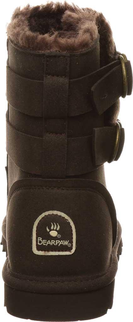 Women's Bearpaw Aloe Vegan Ankle Boot, Chocolate Microfiber, large, image 4