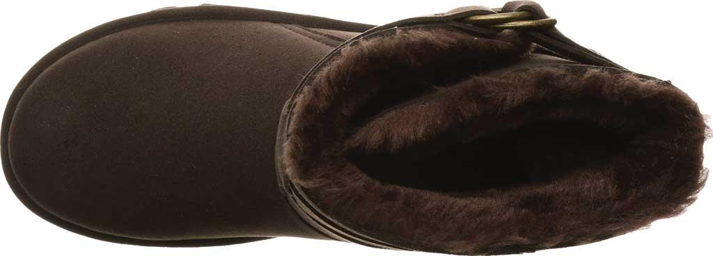 Women's Bearpaw Aloe Vegan Ankle Boot, Chocolate Microfiber, large, image 5