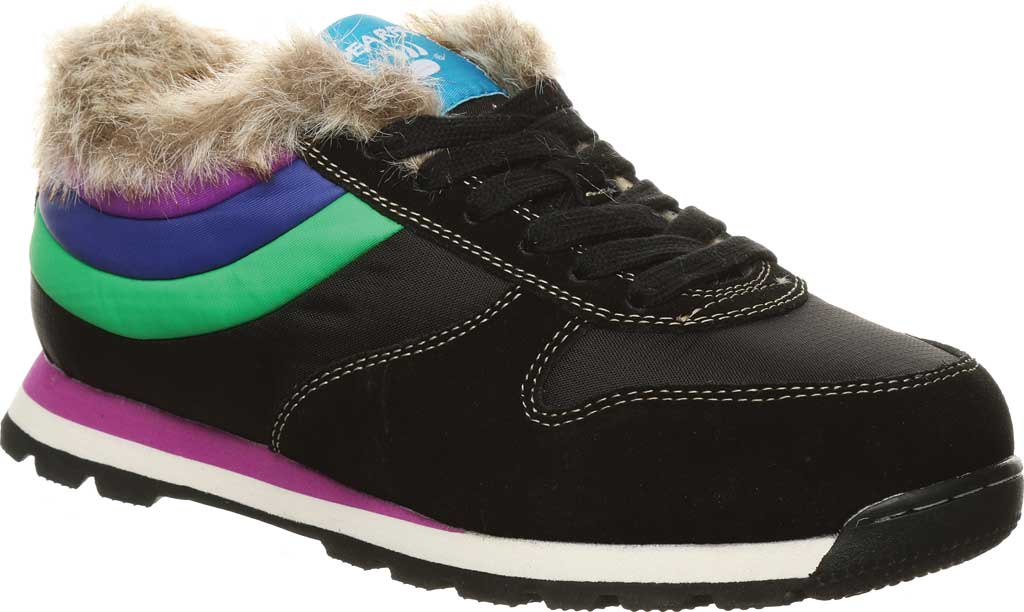 Women's Bearpaw Hoodoo Sneaker, Black II Suede/Nylon, large, image 1