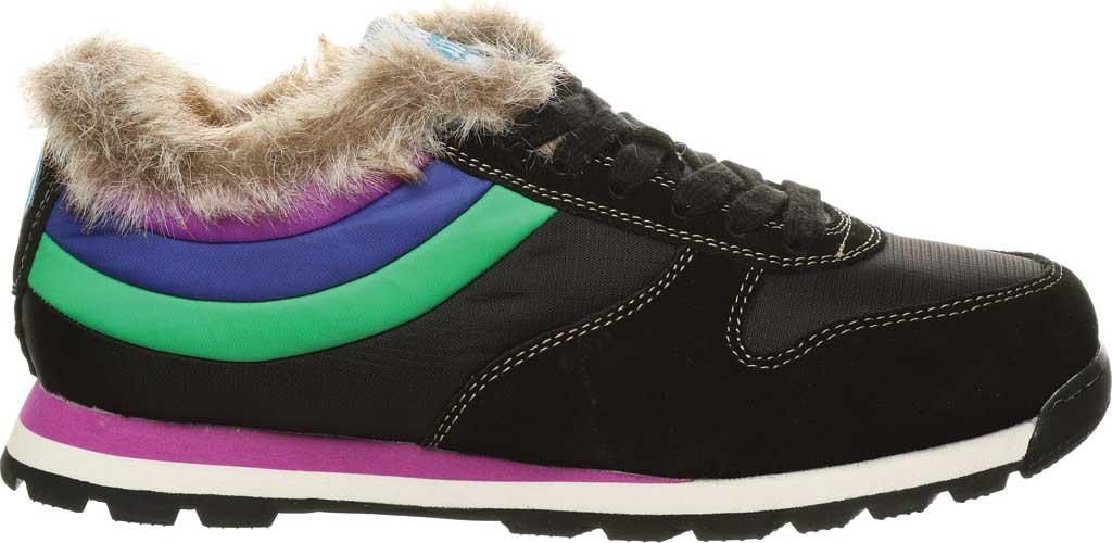 Women's Bearpaw Hoodoo Sneaker, Black II Suede/Nylon, large, image 2