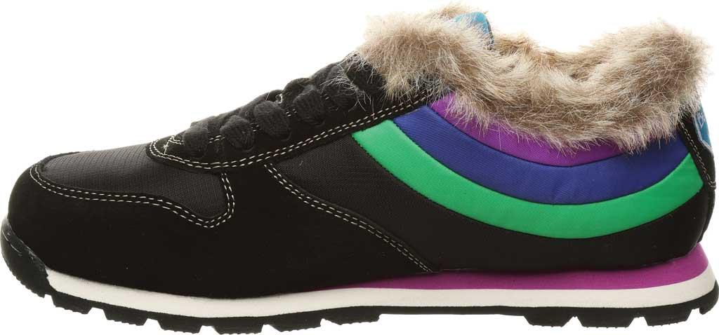 Women's Bearpaw Hoodoo Sneaker, Black II Suede/Nylon, large, image 3