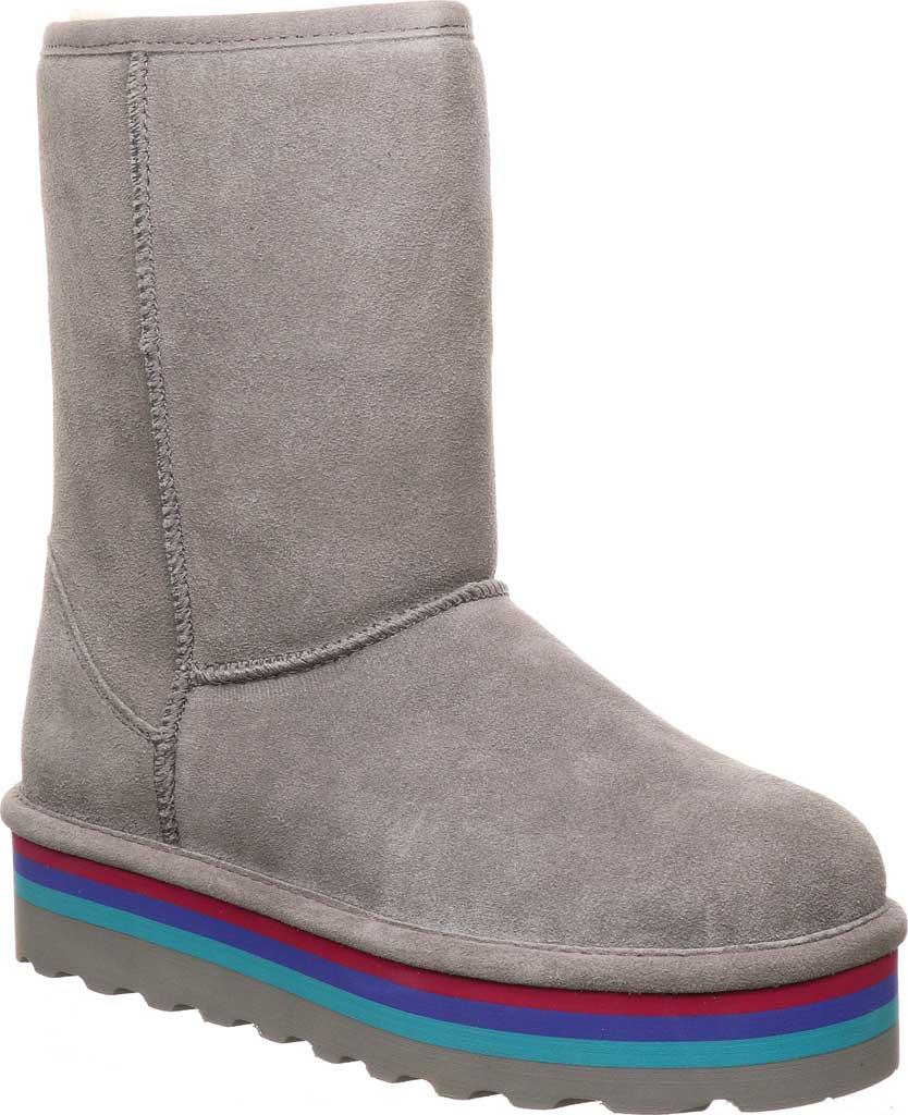 Women's Bearpaw Retro Elle Mid Calf Boot, Gray Fog Suede, large, image 1