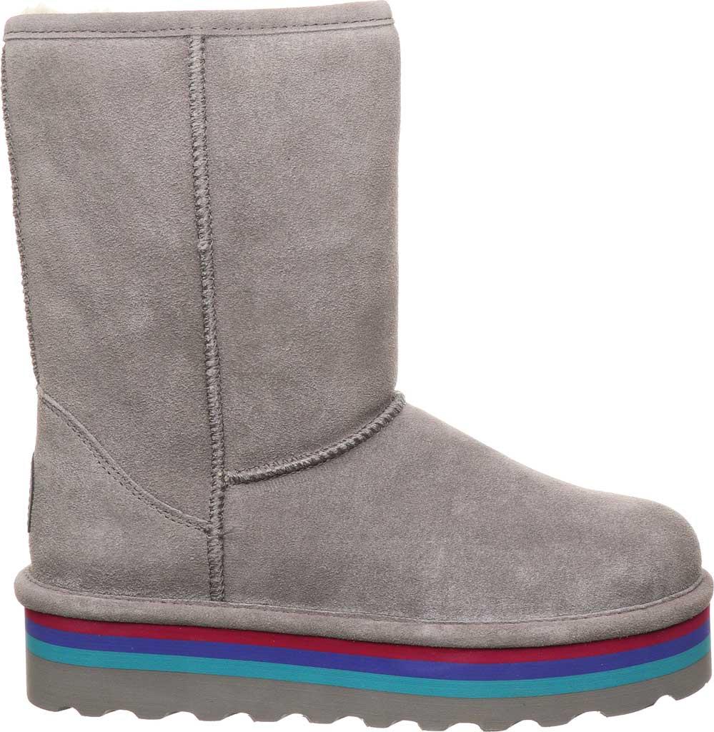 Women's Bearpaw Retro Elle Mid Calf Boot, Gray Fog Suede, large, image 2