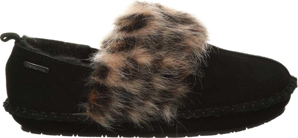 Women's Bearpaw Kimbertree Slipper, Black II/Leopard Suede, large, image 2